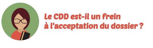 cdd rachat credits