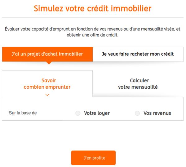 Simulation rachat credits immo ING