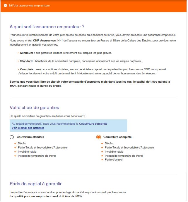 assurance emprunteur ING