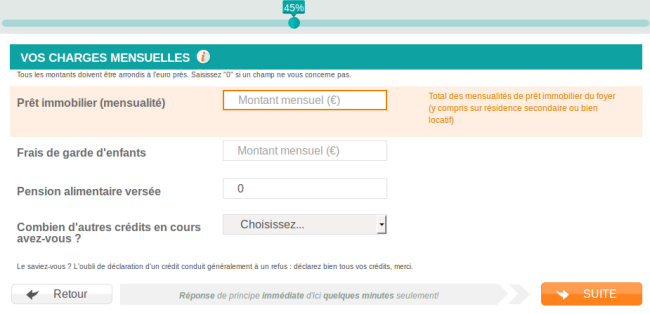 charges mensuelles Younited credit